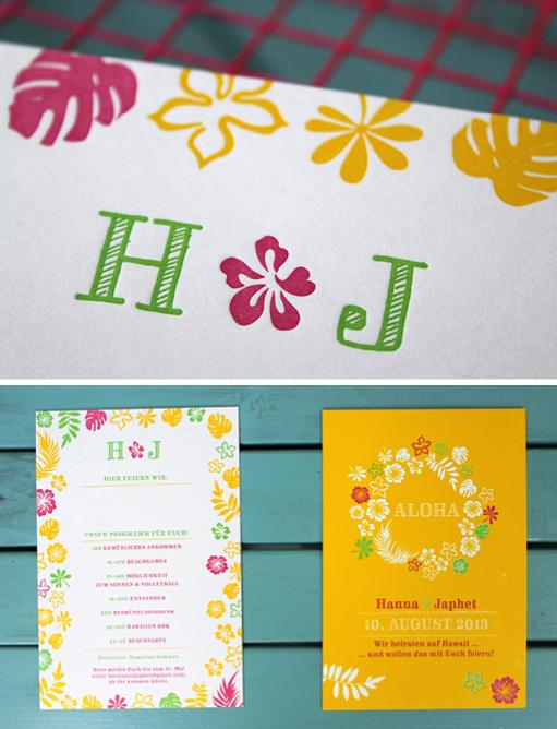 Wedding Invitation Letterpress