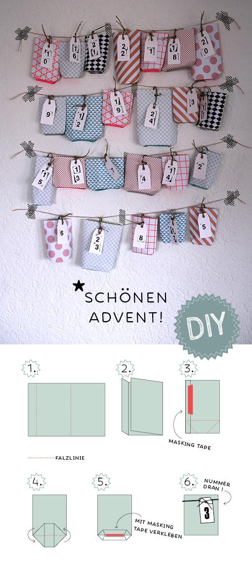 DIY Adventskalender, Advent, Weihnachtsbasteln