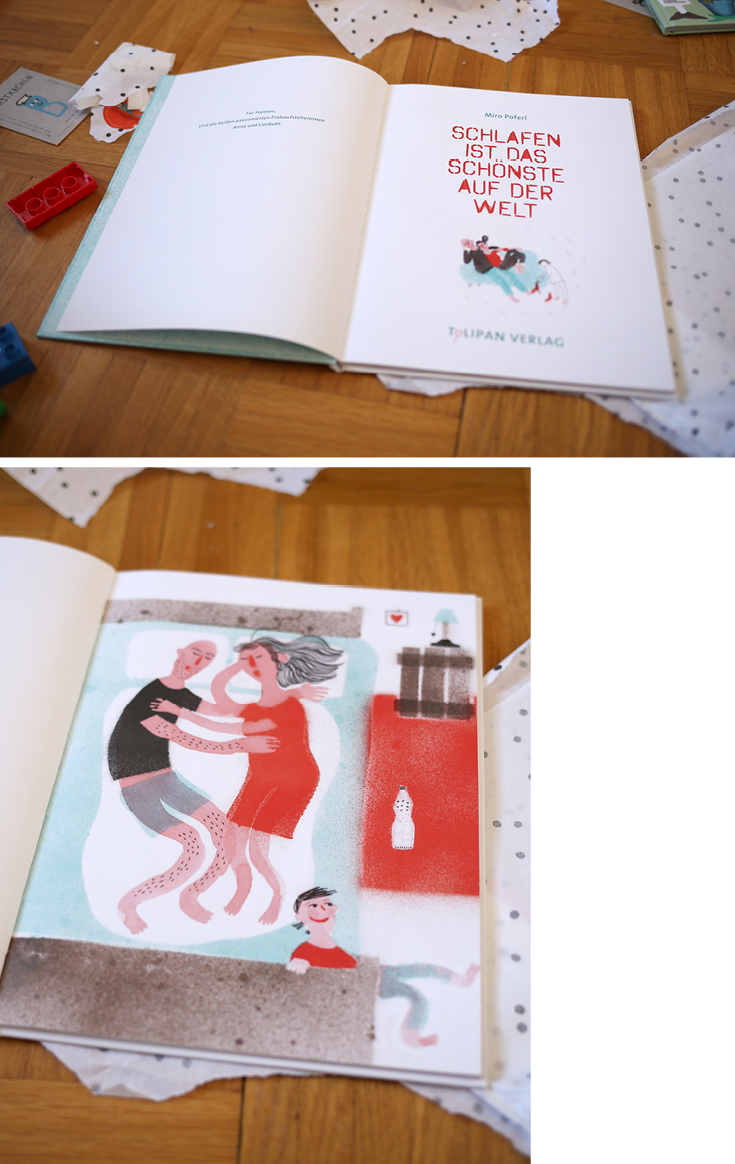 Kinderbuch, Illustration, Miro Poferl, Schlafen ist das Schönste, Tulipan