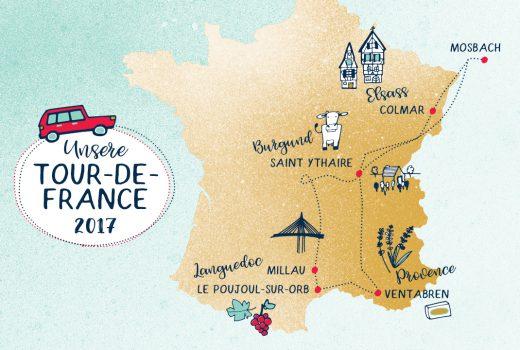 Frankreichrundreise, Karte, Map, Tourismus Frankreich
