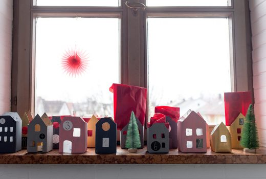 Adventskalender, Upcycling, Milchtüten, Verpackungen, DIY Kalender