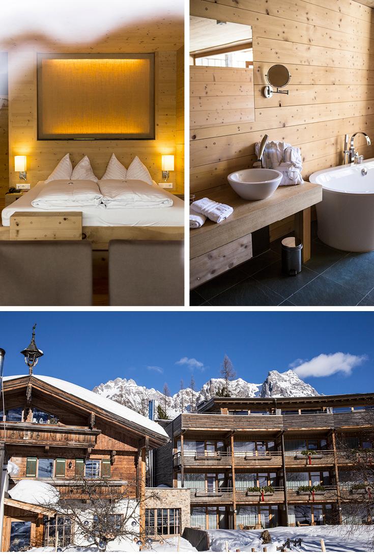 Zirbenholz, Holzhotel, Massivholz, Forsthofalm, Doppelzimmer, Designhotel Berge