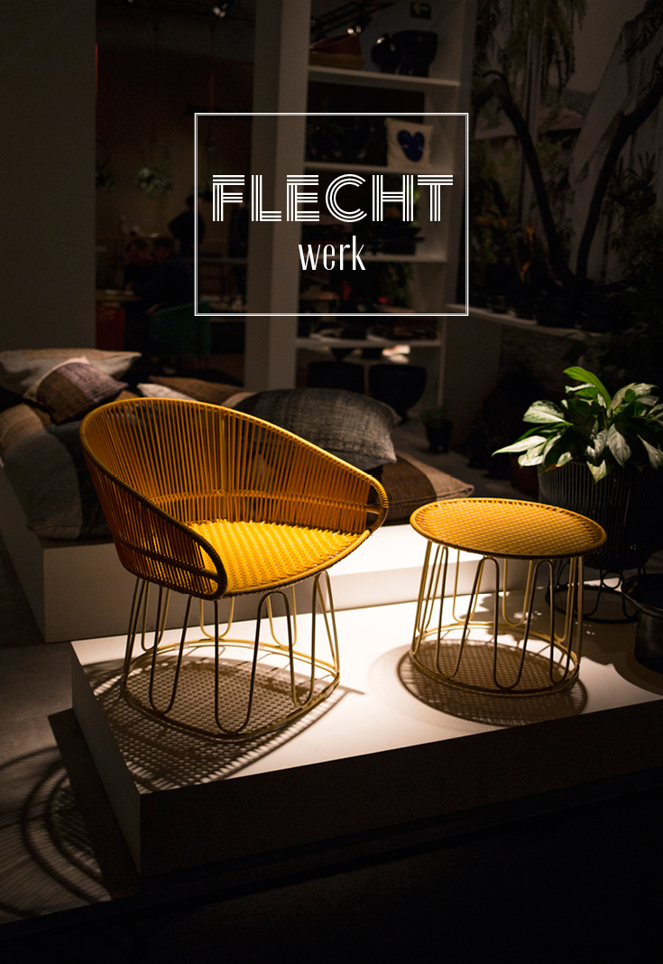 Wohntrend, ames, Herkner, Flechtstuhl, Farbe, Interieurtrend, Wohntrend, Imm Cologne 2018