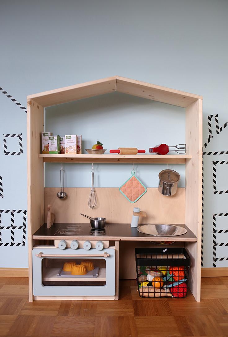 Kinderküche selbstgemacht, Kitchen for kids DIY